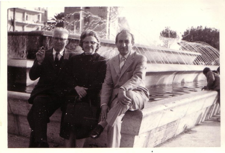 Anna and John united in Rome with Vittorio, 1963