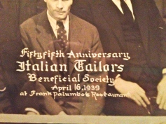 Close up from Italian Tailors Beneficial Society dinner dance, 1939 Philadelphia