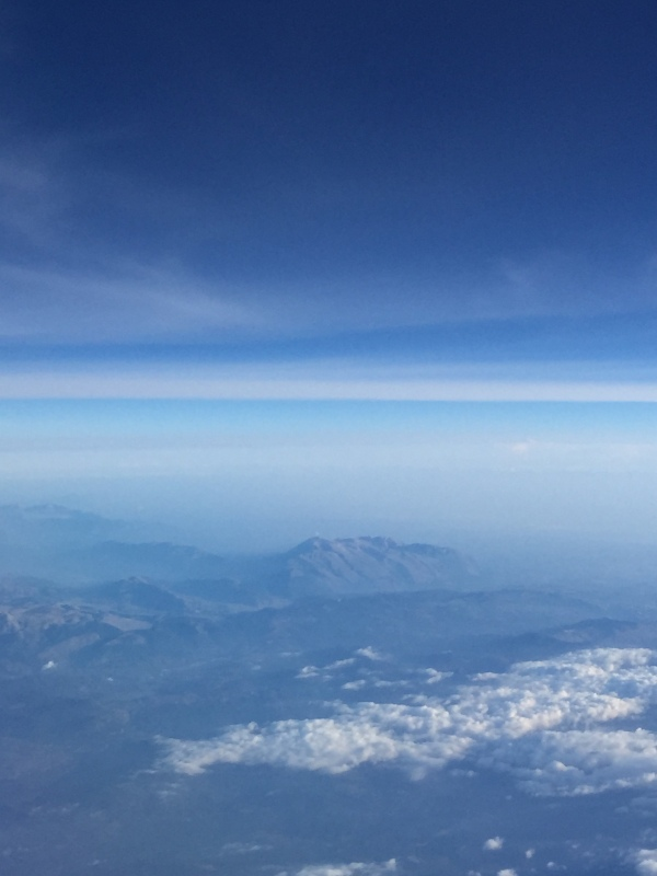 Flying across to Rome