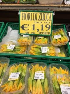 The zucchini flowers were so cheap