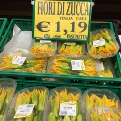 The zucchini flowers were so cheap