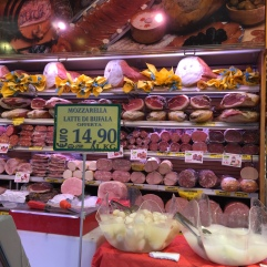 The cheeses and meats