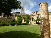 Inside the grounds of the Palazzo d'Avalos