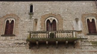 A balcony of the abbey of Santa Maria Arabona