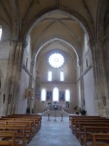 The austere interior of Santa Maria Arabona
