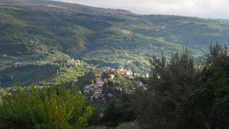From Casale Centurione - view to old town of Manoppello