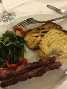 Friday supper with arrosticini