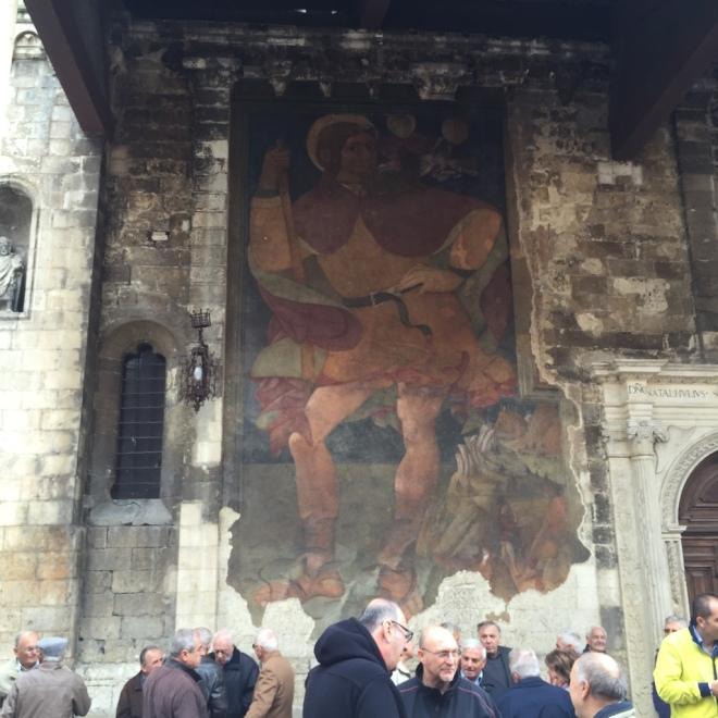 Cathedral fresco St Christopher 1473 Andrea Delitio
