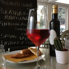 Chilled Ceresuola from the Montepulciano d'Abruzzo grape. The perfect beach wine.