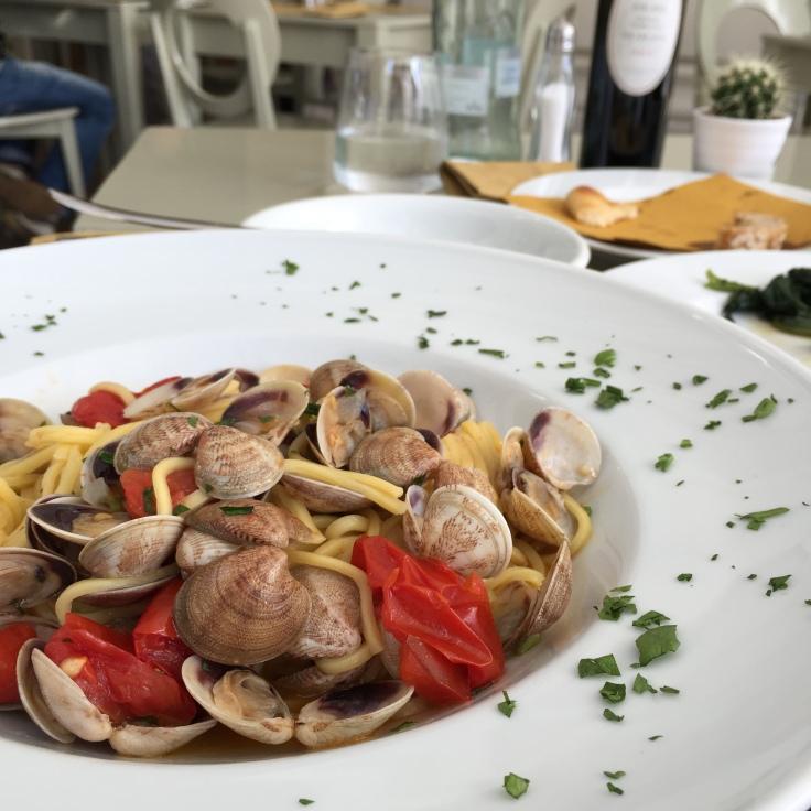 Spaghetti Vongole at Berardo Caffè, Pescara.