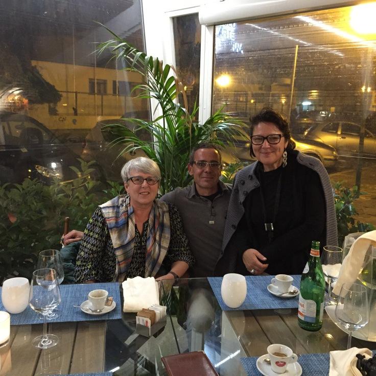 Me with locals Simone and Paola at La Barcaccia, Pescara