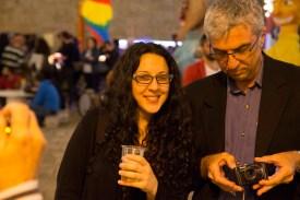 Our new friend Barbara at Festa di Santa Maria della Coltura in Parabita (photo by DB)