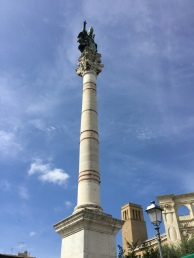 The column with St Oronzo on top.