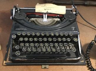 old typewriter at the Museo Ferroviario della Puglia