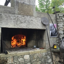 The oven was ready to feed the gathering.
