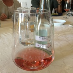 A rosè (rosato) at Masseria l'Astore