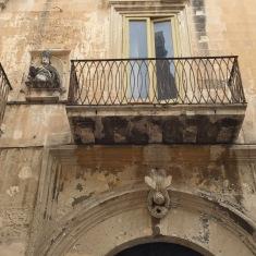 Ornate balcony and doorway