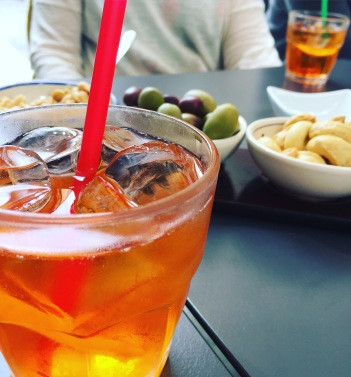 Spuntini time with an Aperol Spritz.