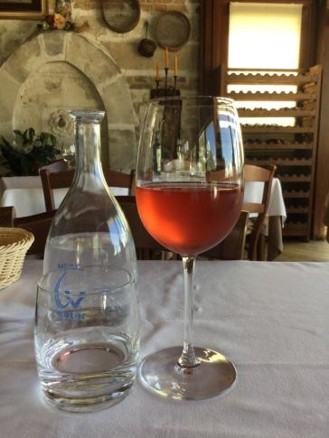 Well earned glass of wine