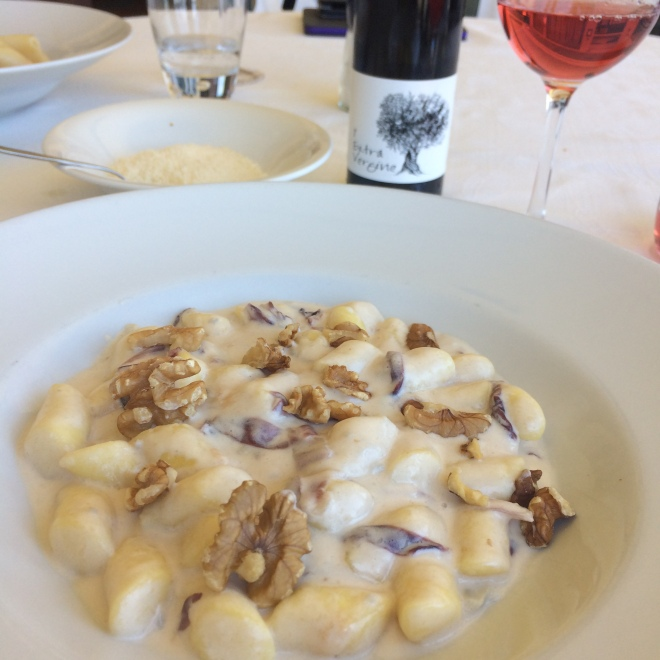 Giulianova lunch blue cheese and walnut gnocchi